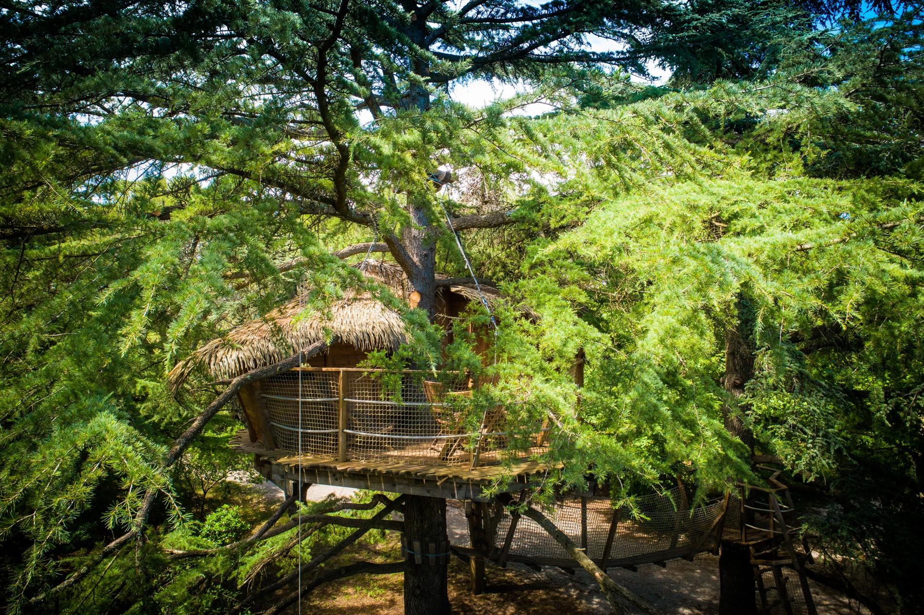 Photo 8 extérieur - Cabanes dans les arbres - Grand Duc -hébergement insolite à Montpellier - Tourisme de nature - Domaine saint Jean de l'Arbousier, Castries, Hérault