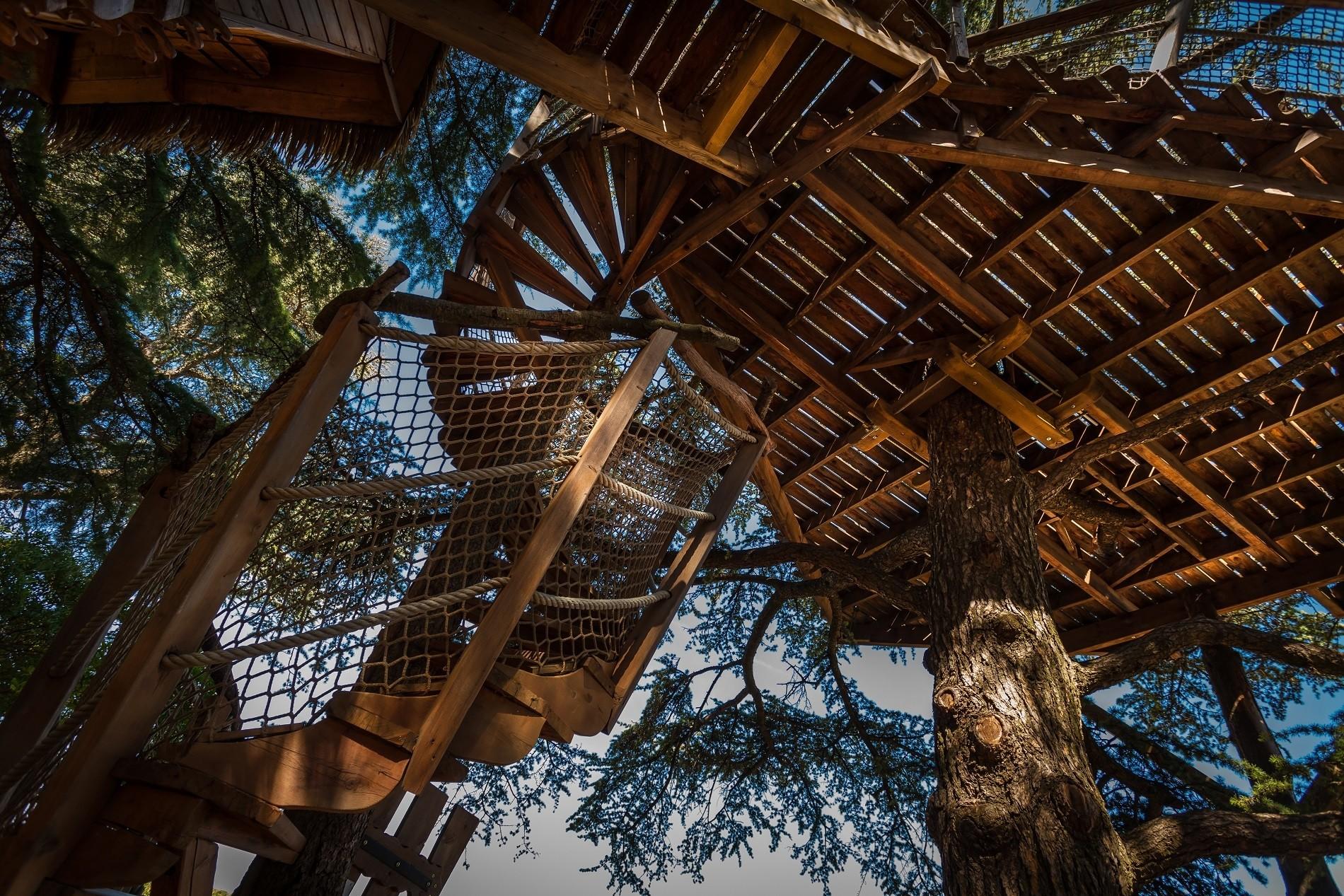 Photo 13 extérieur - Cabanes dans les arbres - Crécerelle -hébergement insolite à Montpellier - Tourisme de nature - Domaine saint Jean de l'Arbousier, Castries, Hérault